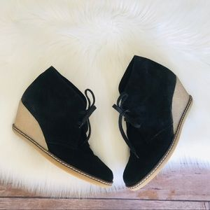 J. Crew Suede Wedges Bootie Made In Italy Sz 8